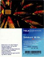 TARJETA TELEFONICA DE DINAMARCA. TDD004N, Fish; SN 7502 (073) - Dinamarca