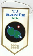 Table Tennis / Czechoslovakia / TJ Banik, Dul Dukla Havirov / Flag, Pennant / Sport - Table Tennis