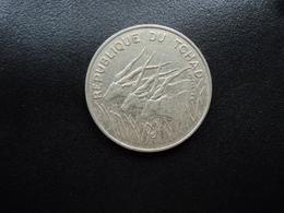 TCHAD : 100 FRANCS  1990   KM 3    SUP * - Tsjaad