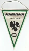 Rugby/ Czechoslovakia / Karvina, Banik 1. Maj / Flag, Pennant / Sport - Rugby