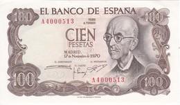 BILLETE DE 100 PTAS DEL AÑO 1970 SERIE A CALIDAD  EBC (XF) (BANK NOTE) MANUEL DE FALLA - 100 Pesetas