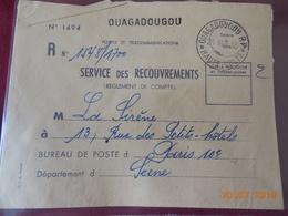 Lettre De Haute Volta(colonie Francaise)OUAGADOUGOU  (service De Recouvrement) - Upper Volta (1920-1932)