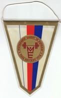 Weightlifting / Czechoslovakia / European Championship Havirov 1978 / Flag, Pennant / Sport - Sports