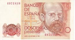 BILLETE DE ESPAÑA DE 200 PTAS DEL 16/09/1980 SIN SERIE CALIDAD EBC (XF)  (BANKNOTE) - [ 4] 1975-… : Juan Carlos I