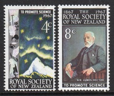 New Zealand Set Of Stamps Issued In 1967 To Celebrate The Royal Society. - New Zealand