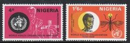 Nigeria Set Of Stamps Issued In 1968 To Celebrate World Health Organisation. - Nigeria (1961-...)