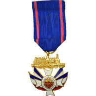 France, Union Nationale Des Cheminots, Médaille, Excellent Quality, Gilt - Militares