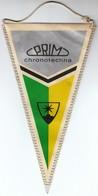 Czechoslovakia / Prim Chronotechna / Watch Company / Flag, Pennant - Patches