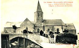 AL 214 /  C P A   - COSQUEVILLE    (50)  L'EGLISE ET LE MONUMENT DES SOLDATS - Frankreich
