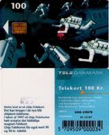 TARJETA TELEFONICA DE DINAMARCA. TDD006F, Space Men, SN 6200 TIRADA 3050 (092) - Dinamarca