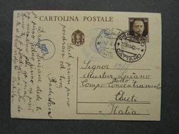 WW2 - ITALY OCCUPATION OF MONTENEGRO 1942- -PERASTO - CATTARO - TOOLO CHIETI- CENSURA - 9. Occupazione 2a Guerra (Italia)