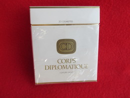 TOBACCO CIGARETTES CARDBOARD BOX CORPS DIPLOMATIQUE EMPTY - Contenitori Di Tabacco (vuoti)
