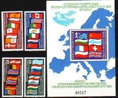 For Cooperation In Europe - Bulgaria / Bulgarie 1982 - Set + Block MNH** - European Ideas