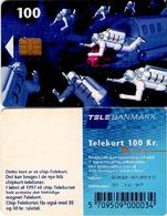 TARJETA TELEFONICA DE DINAMARCA. TDD006C, Space Men, SN 6202 TIRADA 20000 (091) - Dinamarca