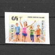 Italia 2016 Centro Sportivo Italiano. Valore Usato (0,95 Euro) - 6. 1946-.. Repubblica