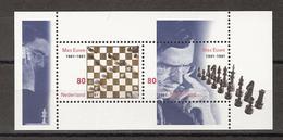 Netherlands Nederland Pays Bas Holanda 1969 Sheet MNH; Schaken, Jouer Aux Echecs, Jugar De Ajedrez Max Eeuwe 2001 - Schaken