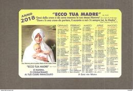 2018 CALENDARIO MADONNA CALENDARIETTO SANTINO - Small : 2001-...