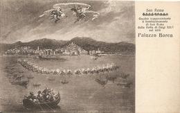 SAN REMO - DIPINTO A PALAZZO BOREA - FORMATO PICCOLO - VIAGGIATA 1927 - (rif. H72) - San Remo