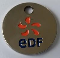 Jeton De Caddie - EDF - En Métal - - Trolley Token/Shopping Trolley Chip