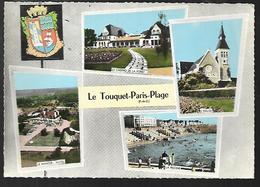 Cpm 6215464 Le Touquet Paris-plage 4 Vues Situées Sur Carte - Le Touquet