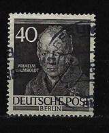 BERLIN - Mi-Nr. 100 Männer Aus Der Geschichte Wilhelm Frh. Von Humboldt Gestempelt (2) - Berlin (West)