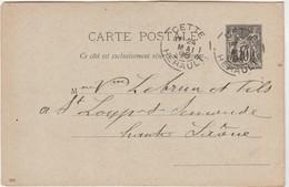 Carte Commerciale 1896 / Entier / ARNAUD / Tapissier / 34 Cette Hérault - Maps