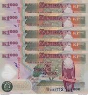 ZAMBIA 1000 KWACHA 2011 P-44h UNC 5 PCS [ZM146h] - Sambia