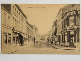 C.P.A. : PERUWELZ : Rue De La Station, Café Monico, Animé - Péruwelz