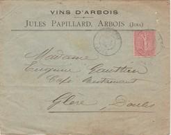Enveloppe Commerciale 1906 / Jules PAPILLARD / Vins D' Arbois / 39 Jura - Maps