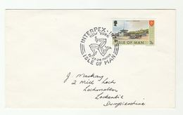 1974 INPEX New York ISLE OF MAN EVENT TRAM Stamps COVER Tramway Horse - Tramways