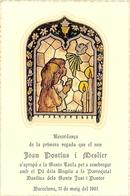 BARCELONE PREMIERE COMMUNION DE JOAN POSTIUS I MESLIER RECORDANCA DE LA PRIMERA VEGADA BASILICA DELS SANTS JUST I PASTOR - Devotion Images
