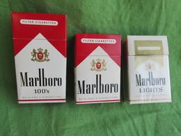 TOBACCO CIGARETTES CARDBOARD BOX MARLBORO  EMPTY 3 PCS - Contenitori Di Tabacco (vuoti)