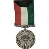 Kuwait, Médaille, 1990-1991, Excellent Quality, Silvered Bronze, 40 - Militares