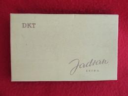 TOBACCO VINTAGE CARDBOARD BOX  JADRAN - FACTORY TITOGRAD MONTENEGRO WITH CIGARETTES INSIDE - Contenitori Di Tabacco (vuoti)