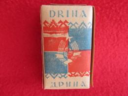 TOBACCO VINTAGE CARDBOARD BOX  DRINA - FACTORY FNR YUGOSLAVIA  WITH 10 CIGARETTES INSIDE - Contenitori Di Tabacco (vuoti)