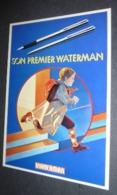 Carte Postale - Son Premier Waterman (Grand Prix De L'Affiche Française - Novembre 1981) - Pubblicitari