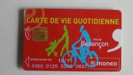 CARTE A PUCE MONEO VIE QUOTIDIENNE VILLE DE BESANCON TRES BON ETAT - Monéo