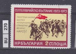 BULGARIA   1973rivoluzione Di Settembre 2 St Usato - Gebraucht