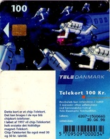 TARJETA TELEFONICA DE DINAMARCA. TDD006G, Space Men, SN 6207 TIRADA 28000 (095) - Dinamarca