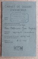Belgique - Carnet De Salaire 1945 - Apprenti-mouleur - Novita Atelier Et Studio - Bruxelles, Av De La Reine - Historische Dokumente