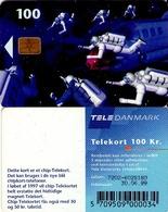 TARJETA TELEFONICA DE DINAMARCA. TDD006J, Space Men, SN 7202 (093) - Dinamarca