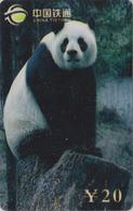 Télécarte De Chine - Animal - PANDA GEANT Sur Rocher - China Tietong Phonecard - Pandabär - 457 - Chine