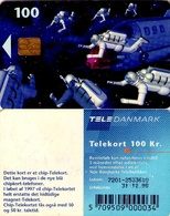 TARJETA TELEFONICA DE DINAMARCA. TDD006I, Space Men, SN 7201 (094) - Dinamarca