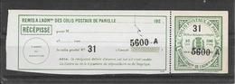 FRANCE Colis Postaux Paris Pour Paris  (*) - Colis Postaux