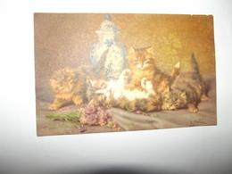Cpa Animaux CHATS Superbe Carte  édition D.MERLIN - Otros Ilustradores