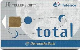 Norway - Telenor - DnB Total - P-24 - 09.1998, 11.000ex, Used - Norway