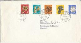Switzerland Cover With Complete Set Pro Juventute 1965 Sent To Denmark Rüti (ZH) 28-12-1965 - Pro Juventute