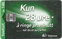Norway - Telenor - Komet 28 Ore - N-192 - (C97033600) 12.2000, 19.810ex, Used - Norway