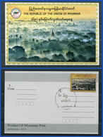 MYANMAR BIRMA BURMA 2017 Mi # 450 69th ANNIVERSARY Of INDEPEDENCE DAY POST CARD - Myanmar (Burma 1948-...)