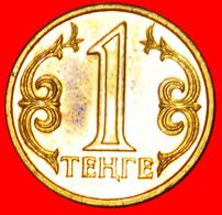 # STAR: Kazakhstan (ex. The USSR, Russia) ★ 1 TENGE 2015 MINT LUSTER! INTERESTING TYPE! LOW START ★ NO RESERVE! - Kazakhstan